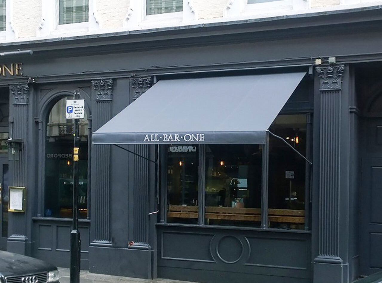 Deans Bar Awning for All Bar One