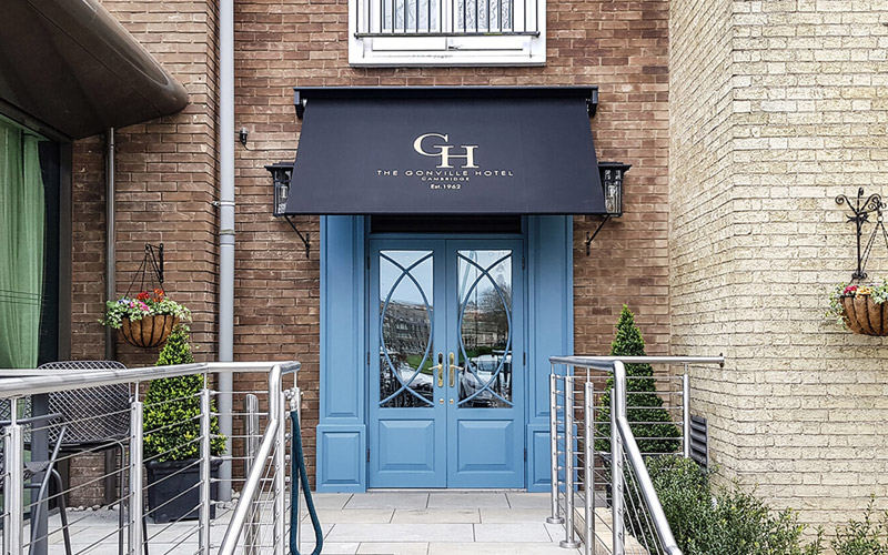 Bespoke Awnings by Deans for The Gonville Hotel