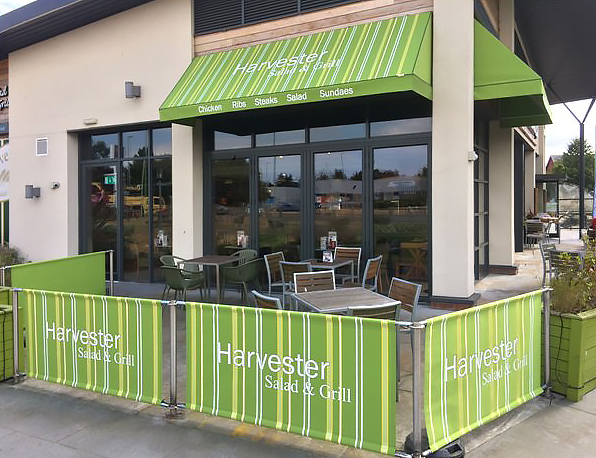 Terrace Awnings by Deans for Harvester Salad & Grill