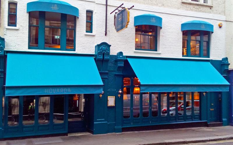 Deans Blue Bar Awning