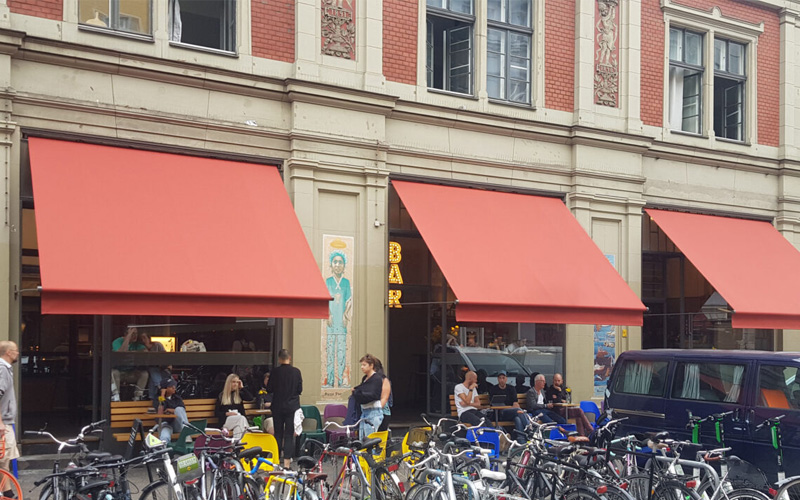 cafe awnings by Deans for Kaffee 9