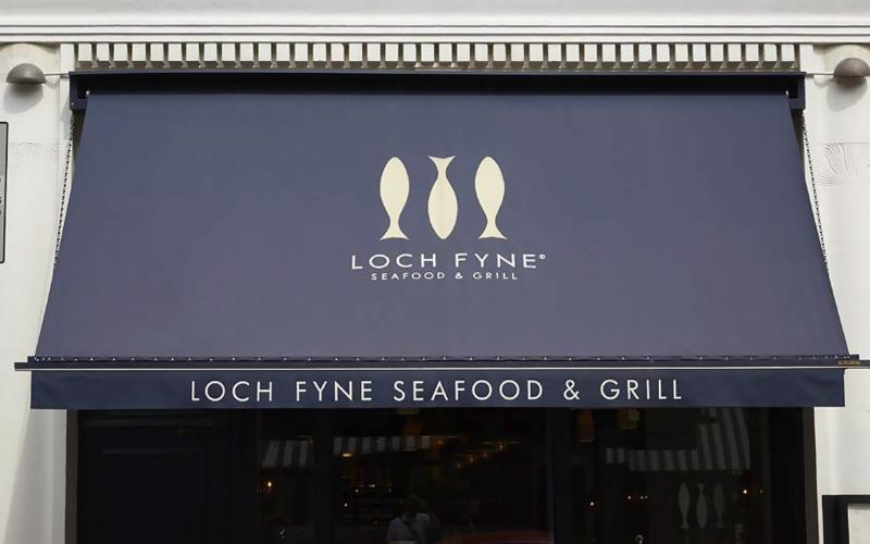 Restaurant Awning for Loch Fyne Restaurant
