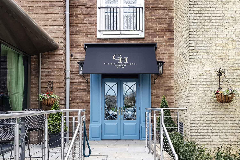 Deans hotel entrance Gonville Hotel