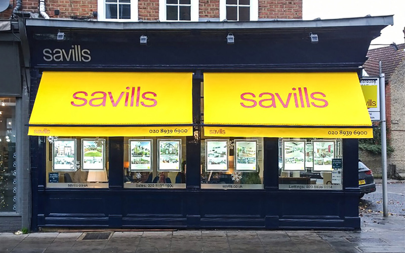 Shop Awnings by Deans for Savills