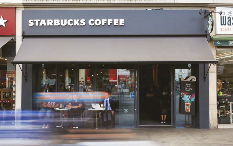 Shop Awnings by Deans for Starbucks