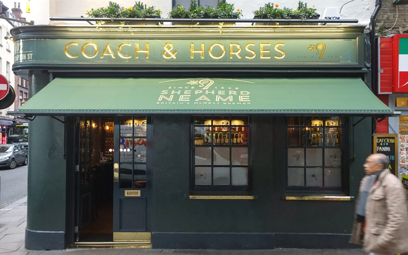 Deans Pub Awning for The Coach & Horses
