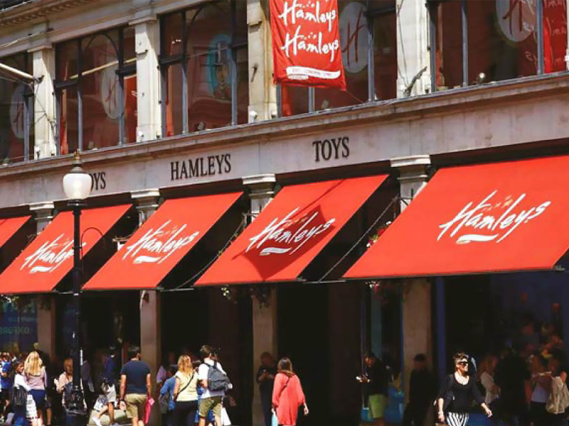 Shop Awnings by Deans for Hamleys