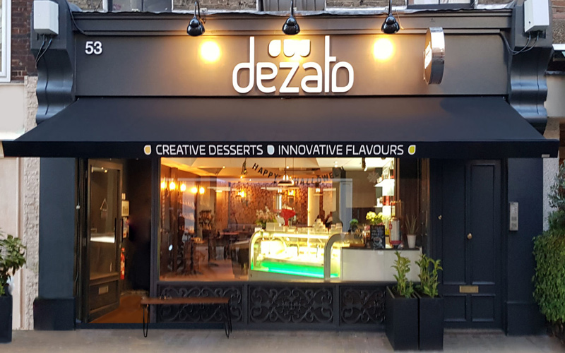 cafe awnings by Deans for Dezato