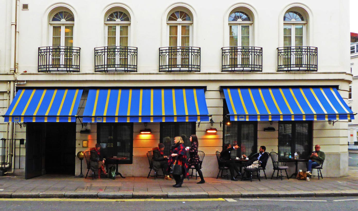 Commercial Awnings by Deans for Little House Soho