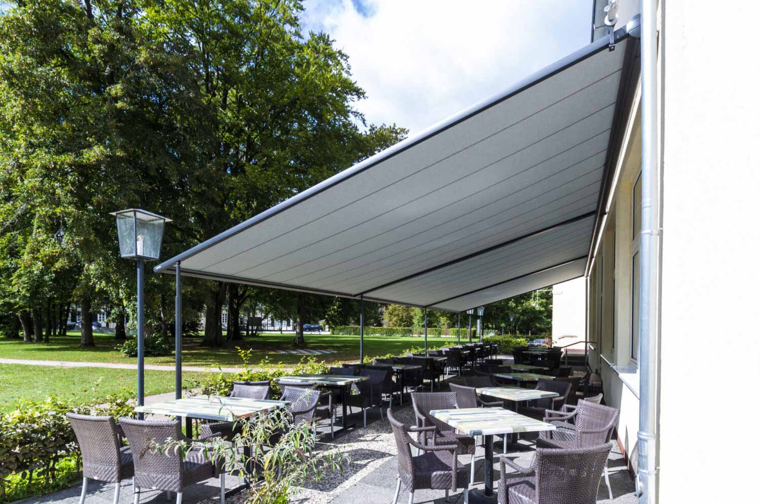 Awnings for Terraces & Outdoor Areas by Deans