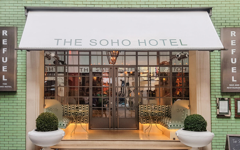 Deans Hotel Awnings for The Soho Hotel