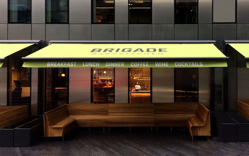 Branded Awnings by Deans for The Brigade