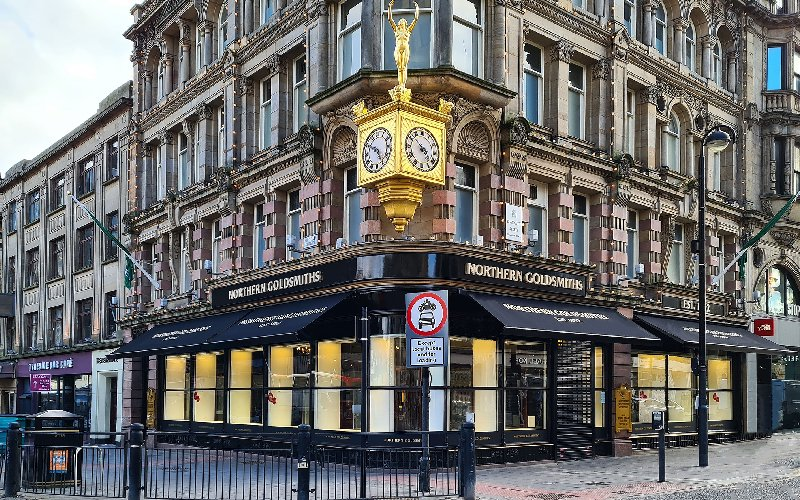 Commercial Awnings by Deans for  Northern Goldsmiths