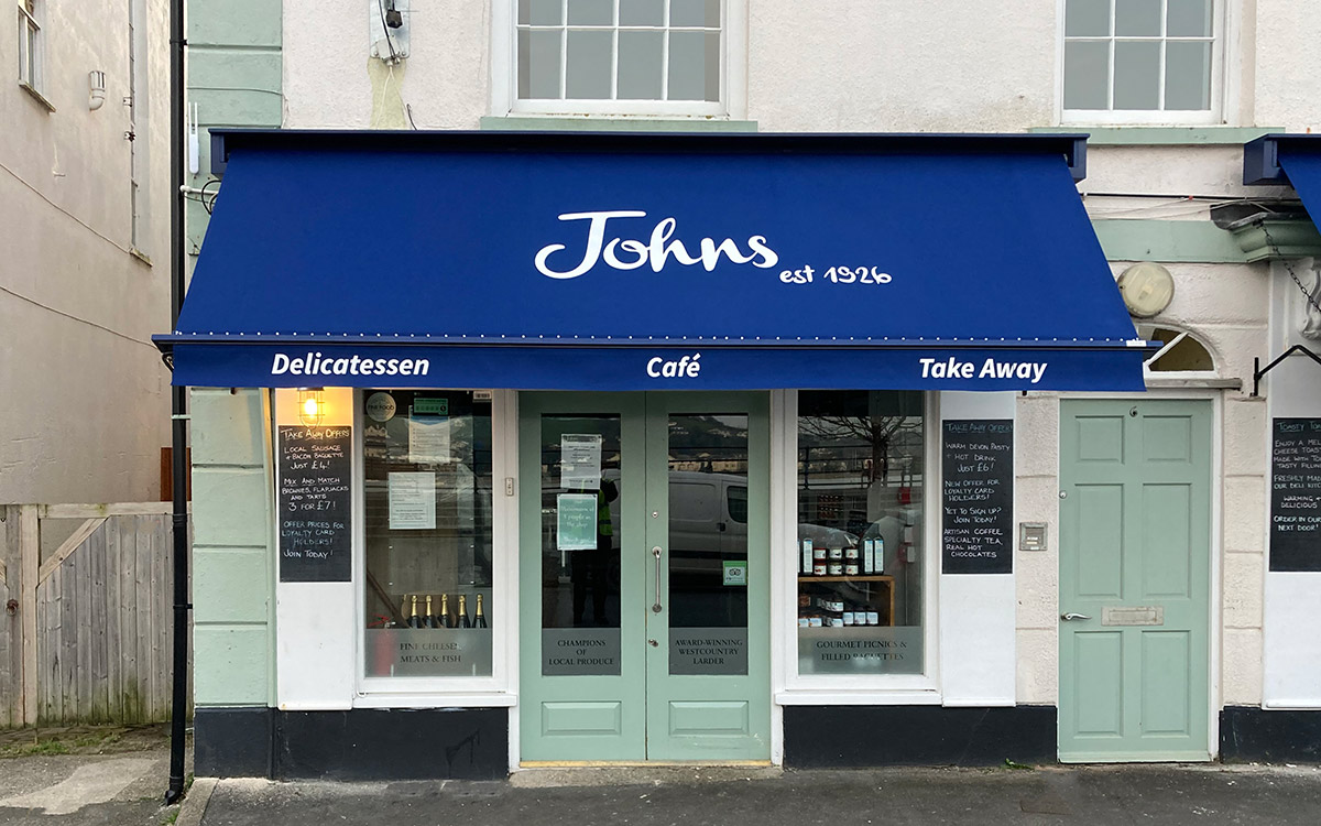 cafe awnings by Deans for Johns