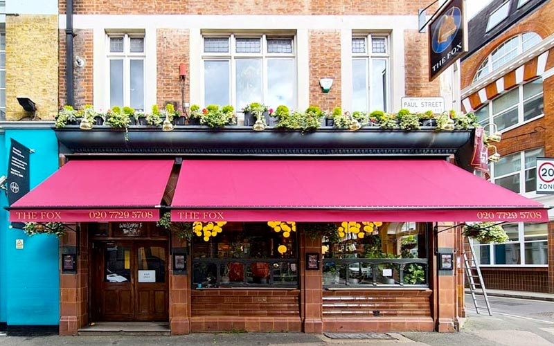 Pub Awning by Deans for The Fox, London