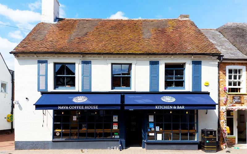 Traditional Cafe Awning for Nava