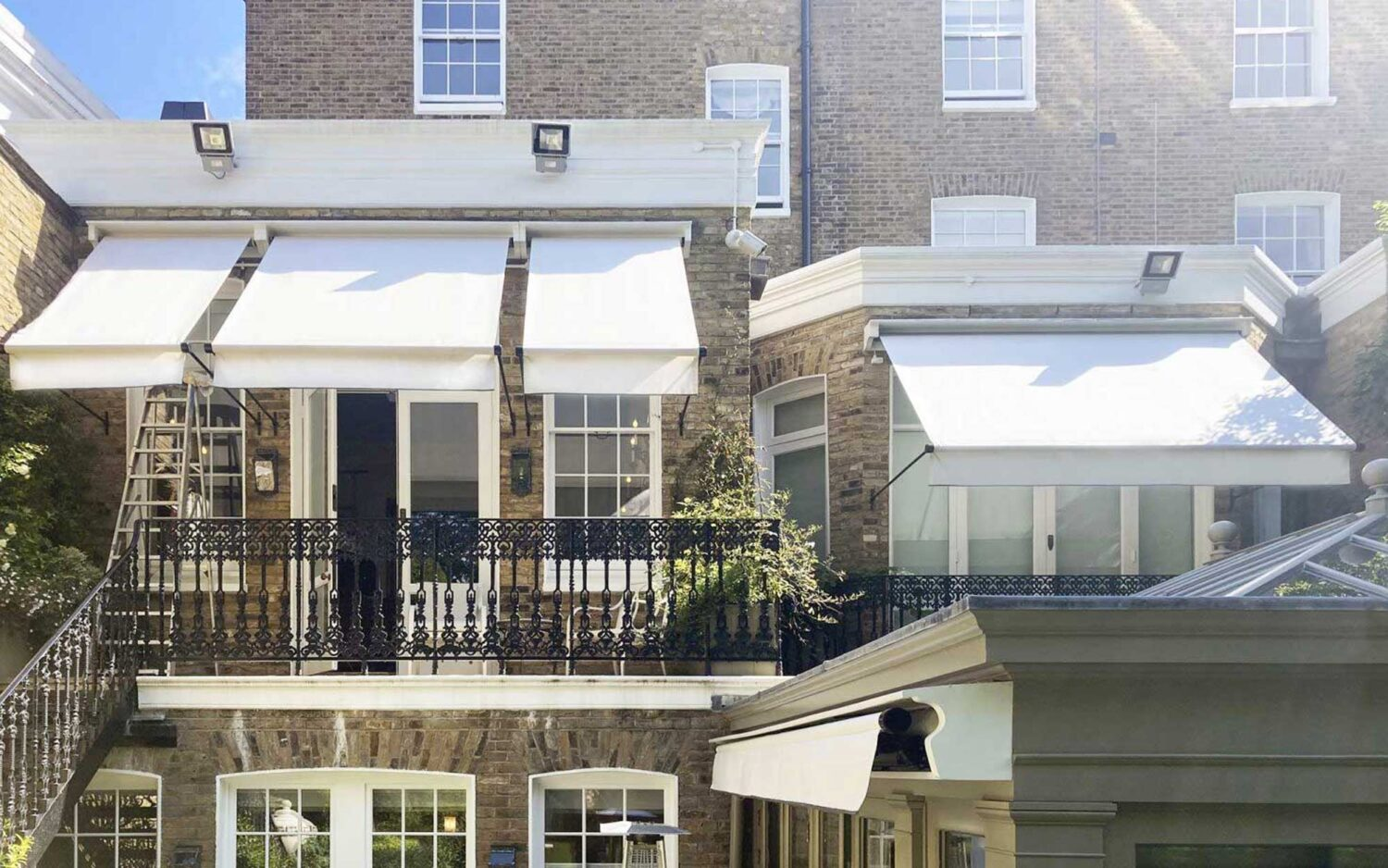 traditional residential awnings for Kensington, London period property