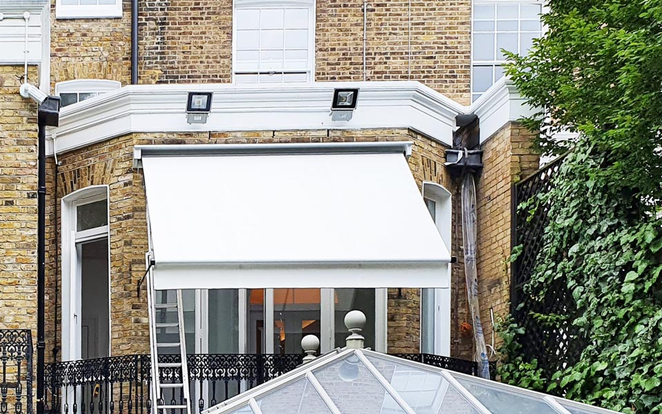 Residential Awning in traditional period property in Kensington London